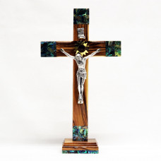 Crucifix on a Stand with Mother of Pearl L1