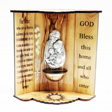 Holy Water Font 3D - Holy Family
