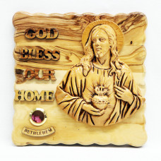 Blessed Heart of Jesus with God Bless Our Home