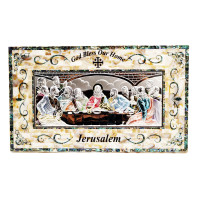 Last Supper Mother of Pearl with Pure Silver (X Large)