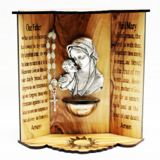 Holy Water Font 3D - Mary with Baby Jesus